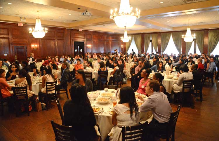 Pullman scholars, family, and friends bonded over a family-style lunch.