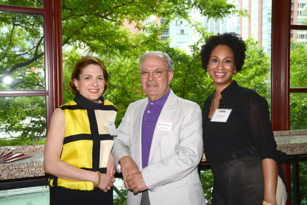 Board President Bonnie Miller, Board Member Reverend Sam Portaro, and Executive Director Robin Redmond