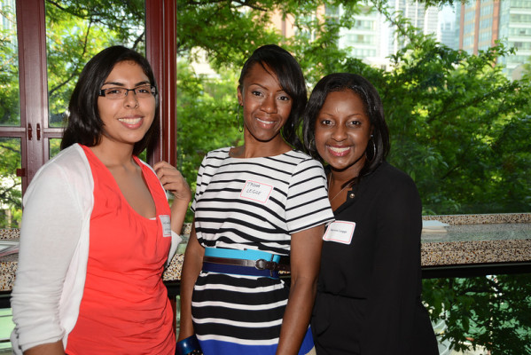 Pullman Scholars Irma Castaneda (2013), Tasha Legge (guest), and Nerissa Legge (2004)