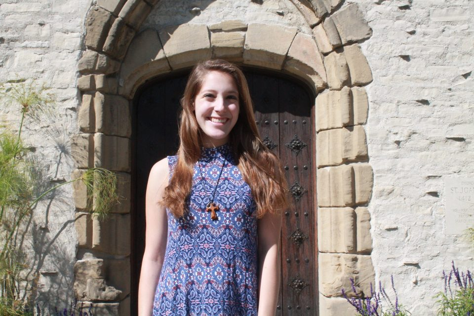 Ellie Marino at Marquette's Joan of Arc Chapel