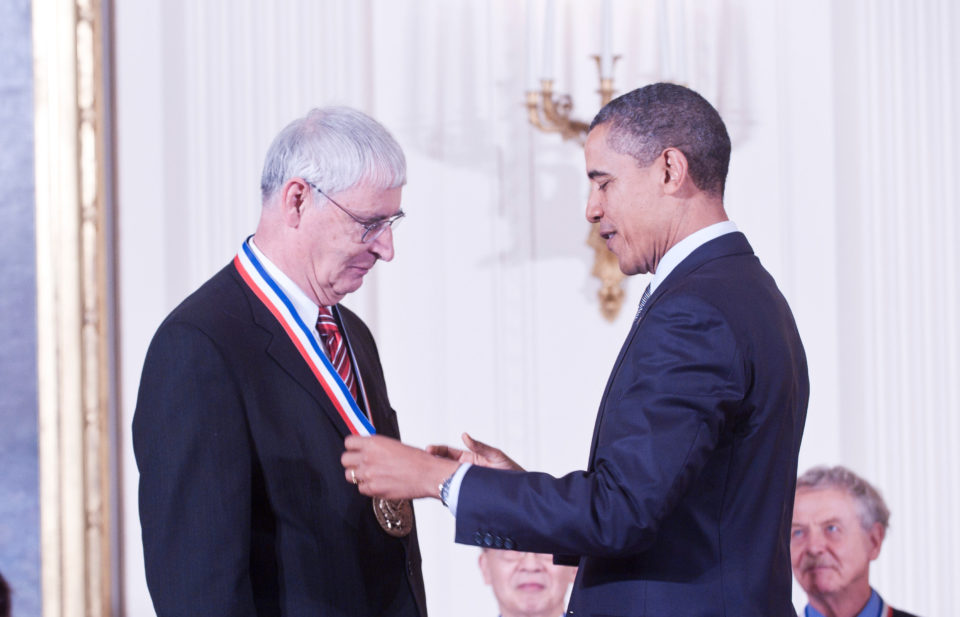 President Barack Obama awards Dr. Stang with the 2010 National Medal of Science