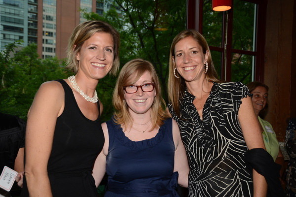 Great-great granddaughters of George Pullman – Kimberley Freedman (left) and Jennifer Tadjeden (right); and great-great-great granddaughter of George Pullman – Sarah Nau (center) came out to celebrate with Pullman Scholars.